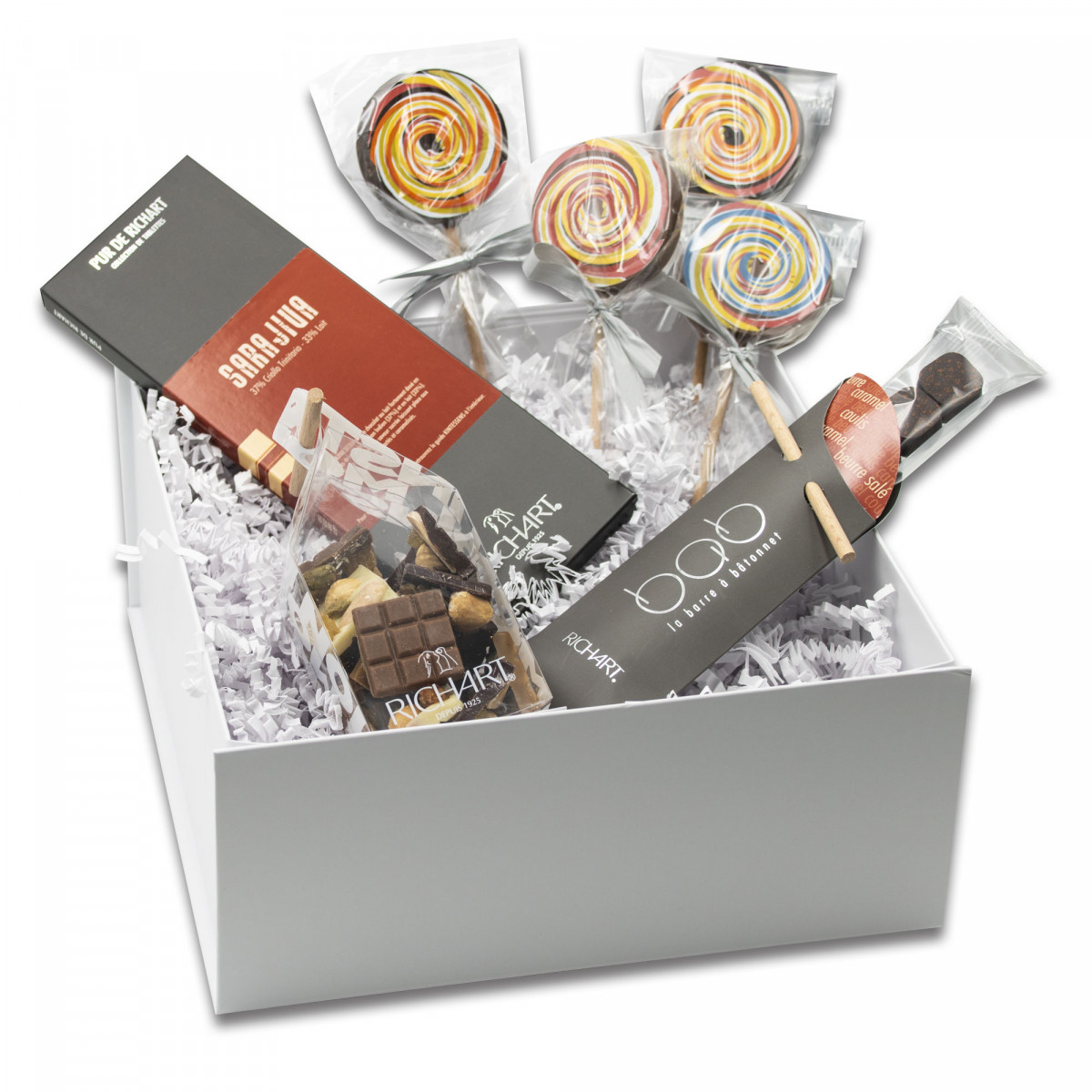 In my schoolbag - assorted chocolates gift basket