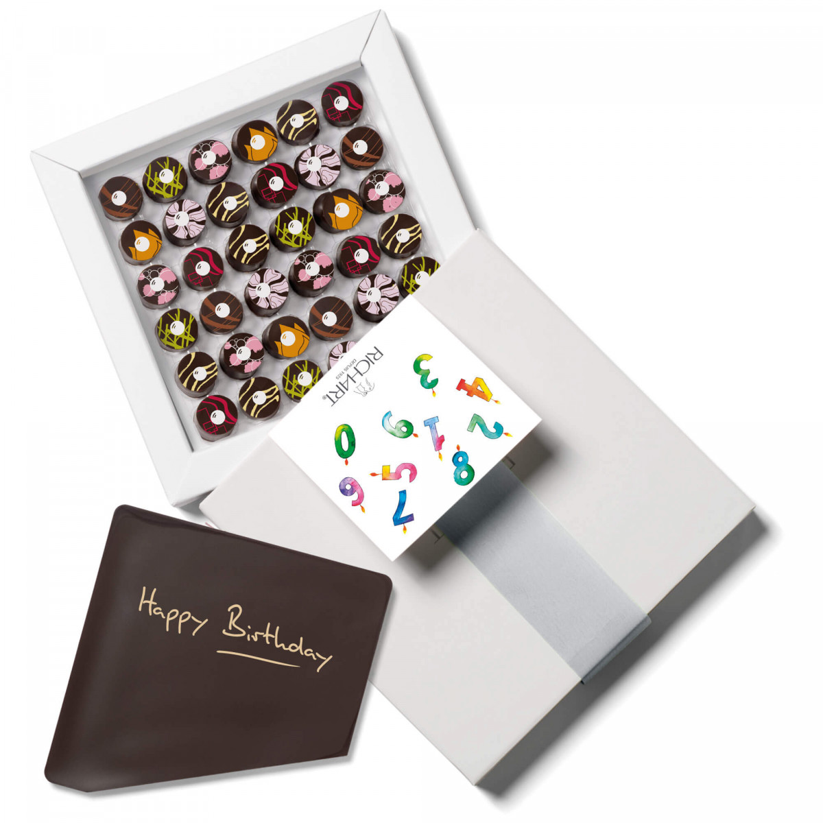 Infuze Happy Birthday Box of 36 filled chocolates