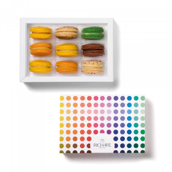 Exotic Box of 9 French macarons