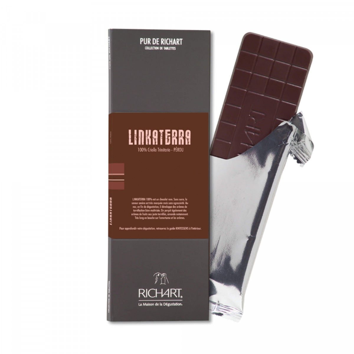 Linkaterra 100 Dark Chocolate Bar