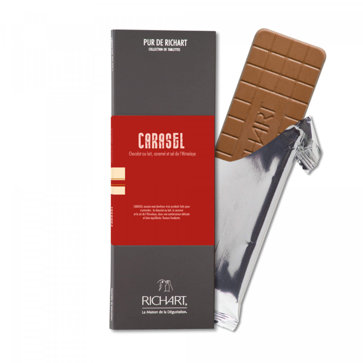 Carasel Milk chocolate bar with caramel and salt