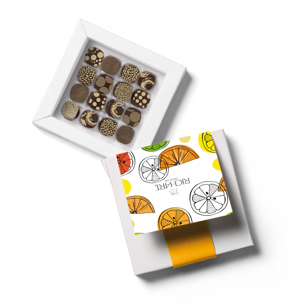Petits RICHART Citrus Box of 16 filled chocolates