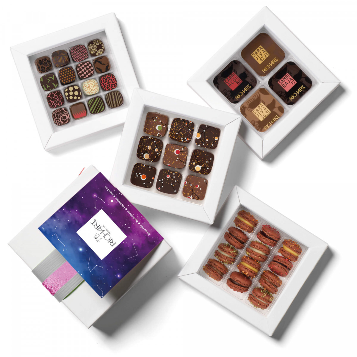 Constellations Iconiques assortiment chocolats fourrés