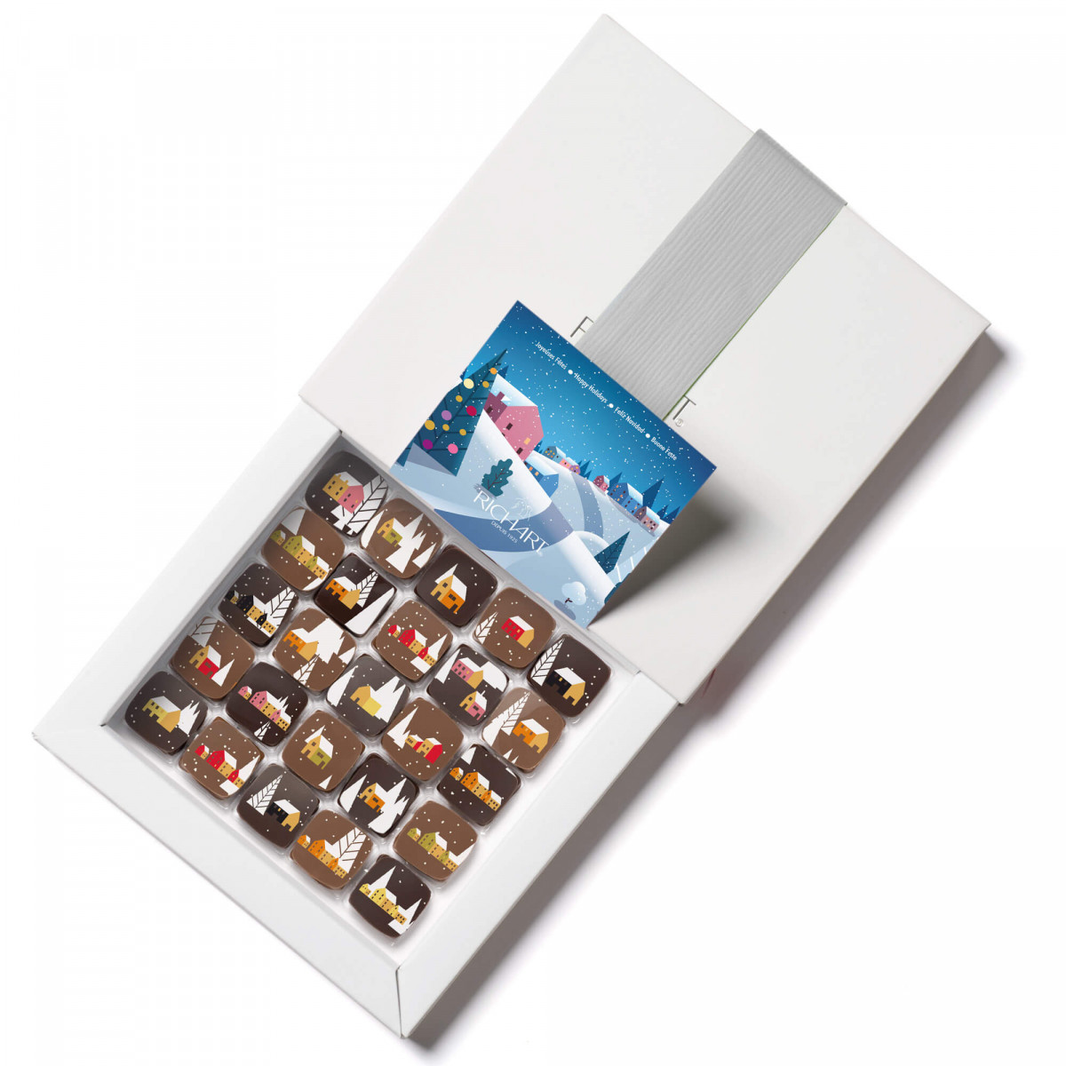 Coffret 25 chocolats fourrés de la nouvelle collection de Noël de la Maison RICHART
