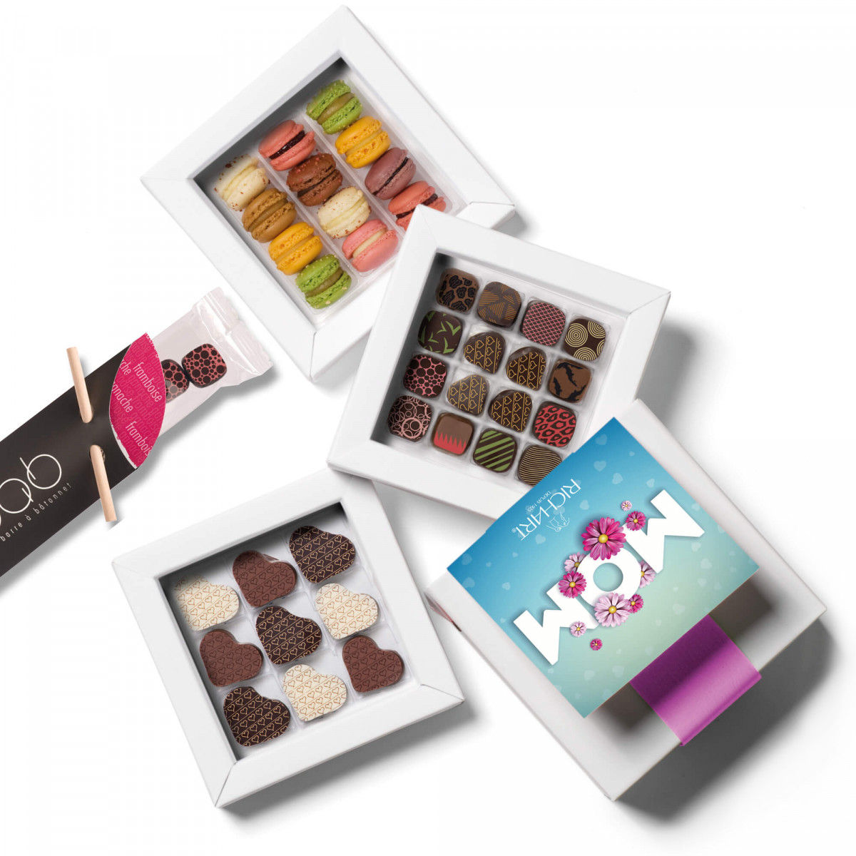 Happy Mother's Day: filled chocolates and French mini-macarons from Maison RICHART