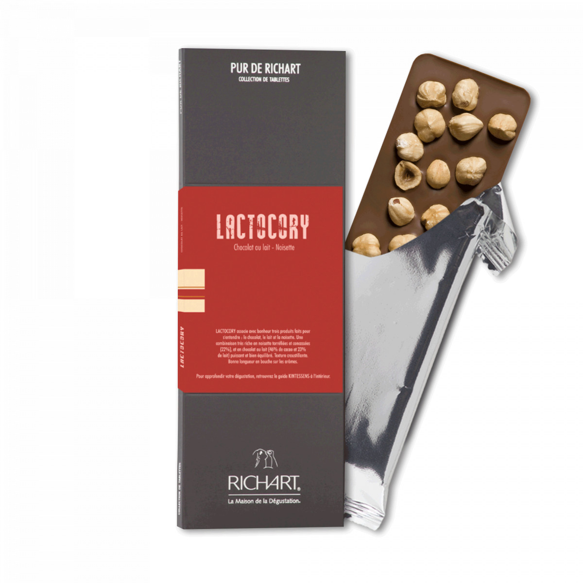 Lactocory Milk chocolate bar with hazelnuts
