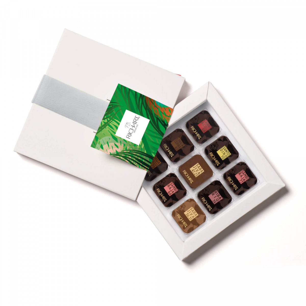 Camino Box of 36 squares of dark and milk chocolate