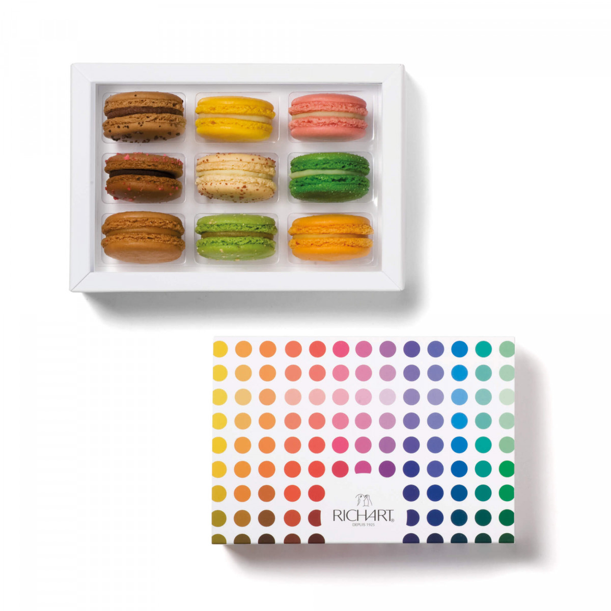 Timeless Box of 9 French macarons