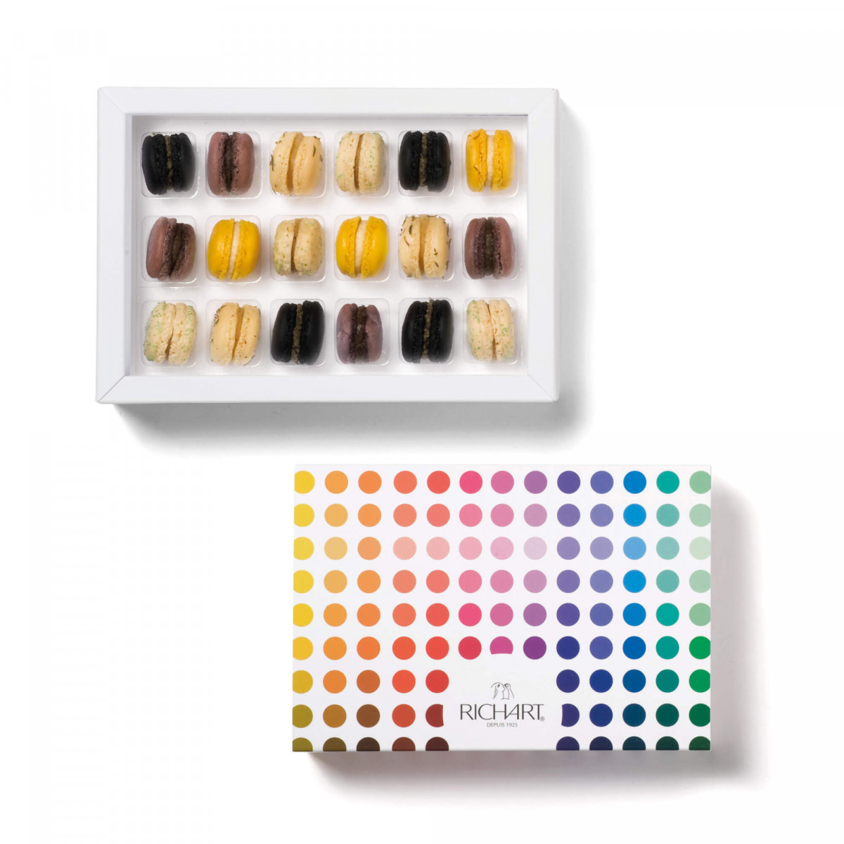 Mini-macarons appetizer Box of 18 pices