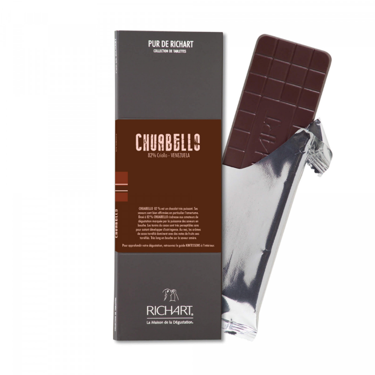 Chuabello 82 Dark Chocolate Bar