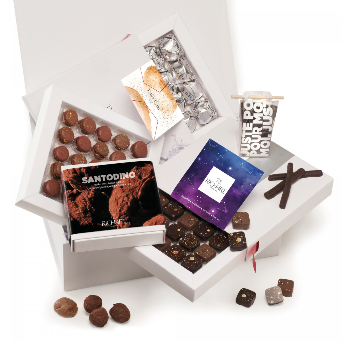 Happy Holidays chocolate gift basket