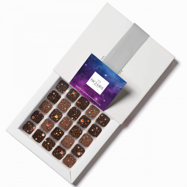 Constellations Holidays Box of 25 filled chocolates
