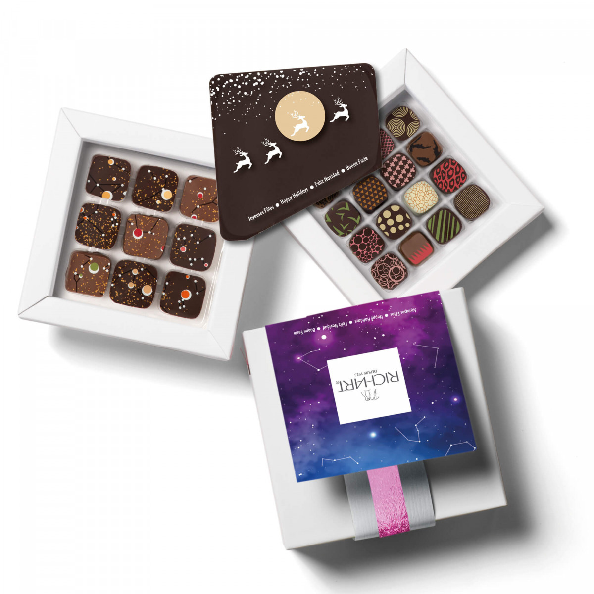 Intense Holidays - Personalized gift box of filled chocolates