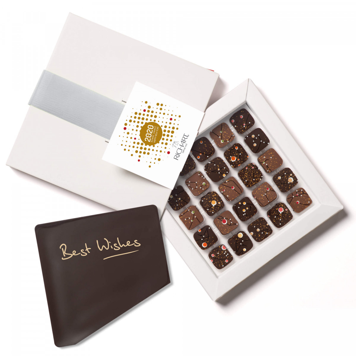 25 filled chocolates + 2020 chocolate card