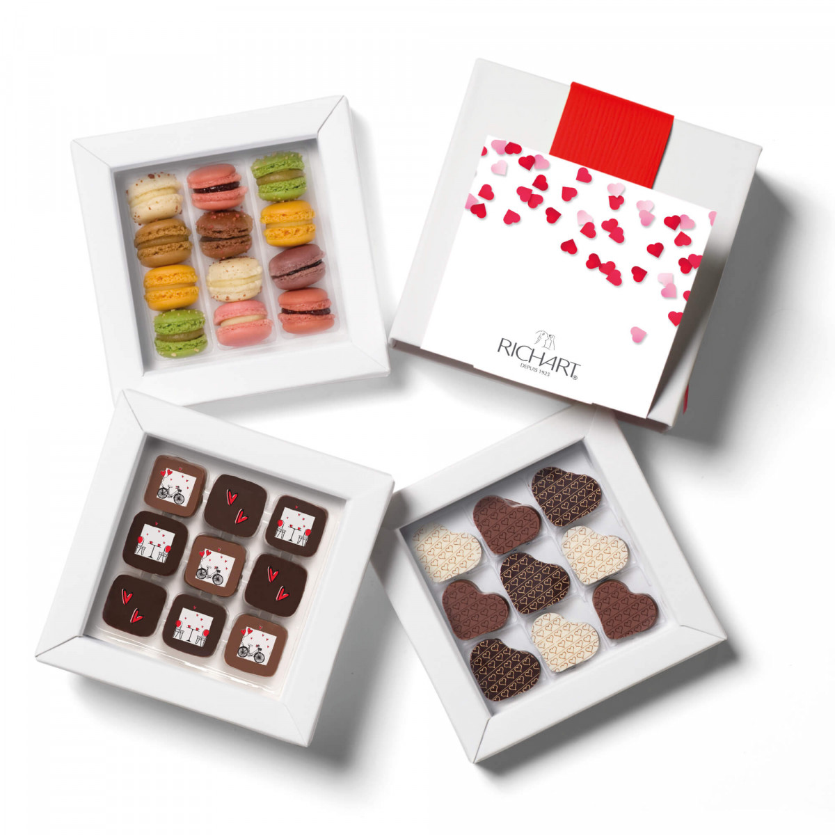 With all my heart assortment of Valentine's Day filled chocolates and heart shape chocolates