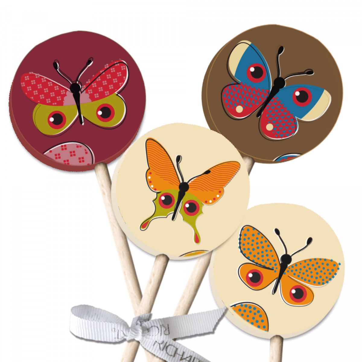 Pack of 4 Easter Lollipops - RICHART Chocolates
