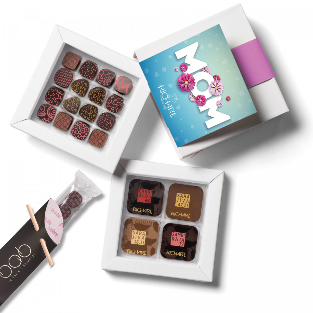 Best Mom Ever: filled and solid chocolate Mother's Day gift box from Maison RICHART