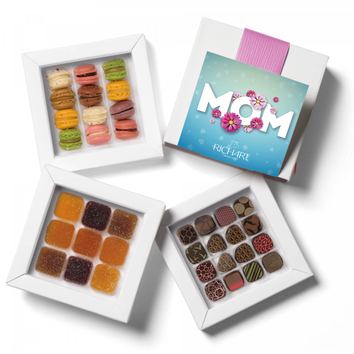 Wondeful Mom:filled chocolates, pates de fruitd and french macarons from Maison RICHART