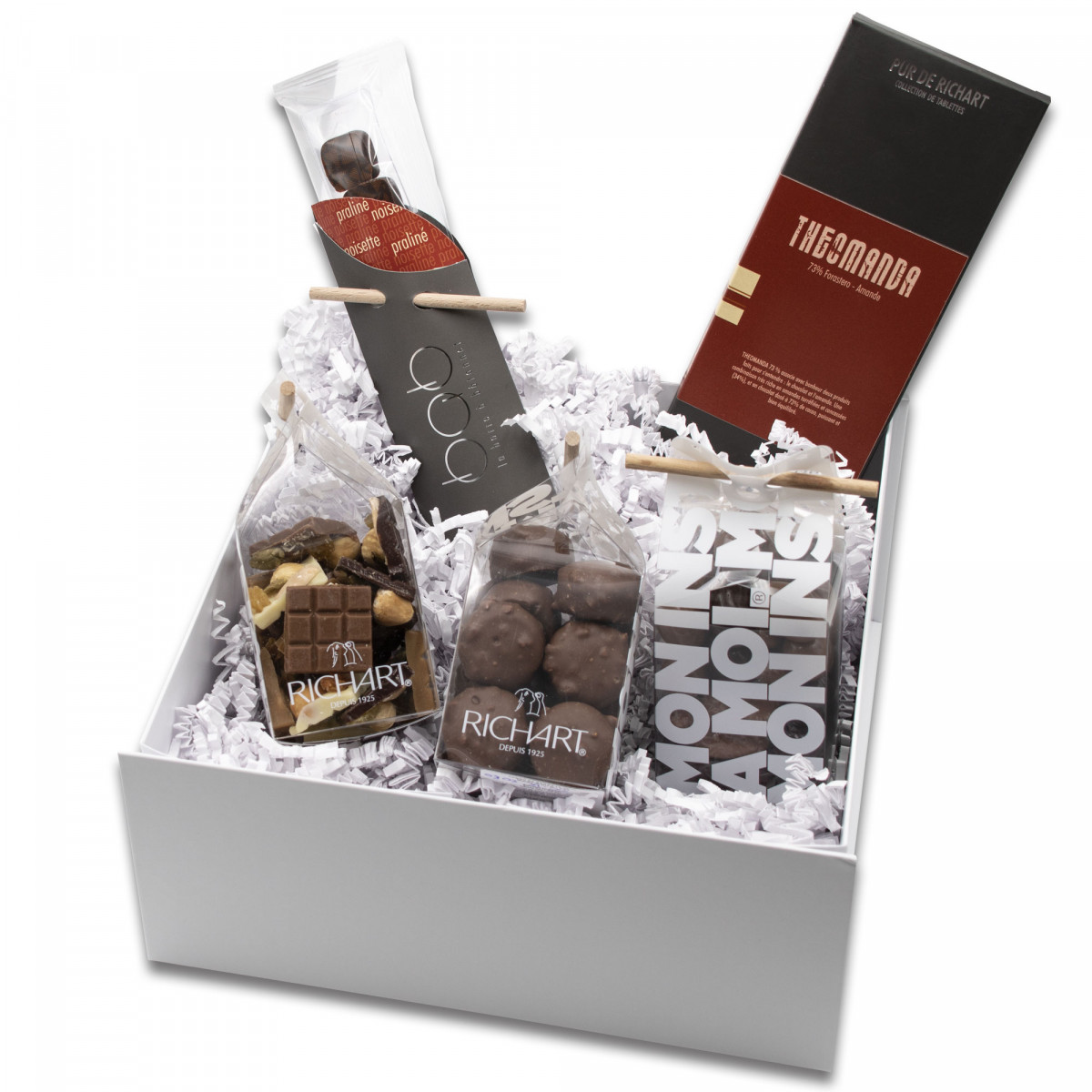 Feel good Gift basket of assorted chocolates by Maison RICHART