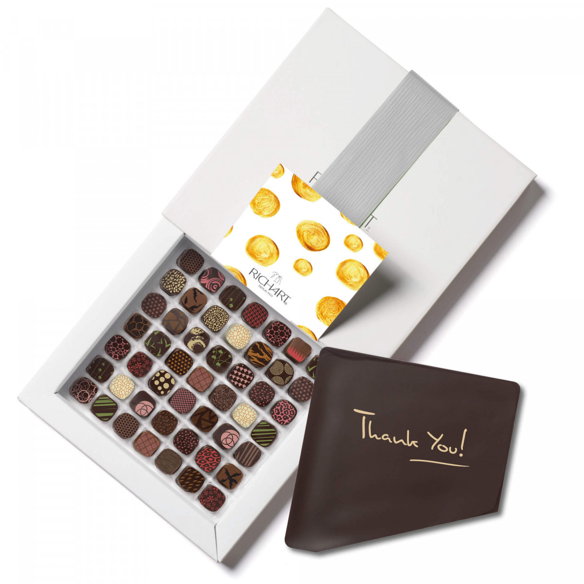 Petits RICHART Intense Thank You Box of 49 filled chocolates