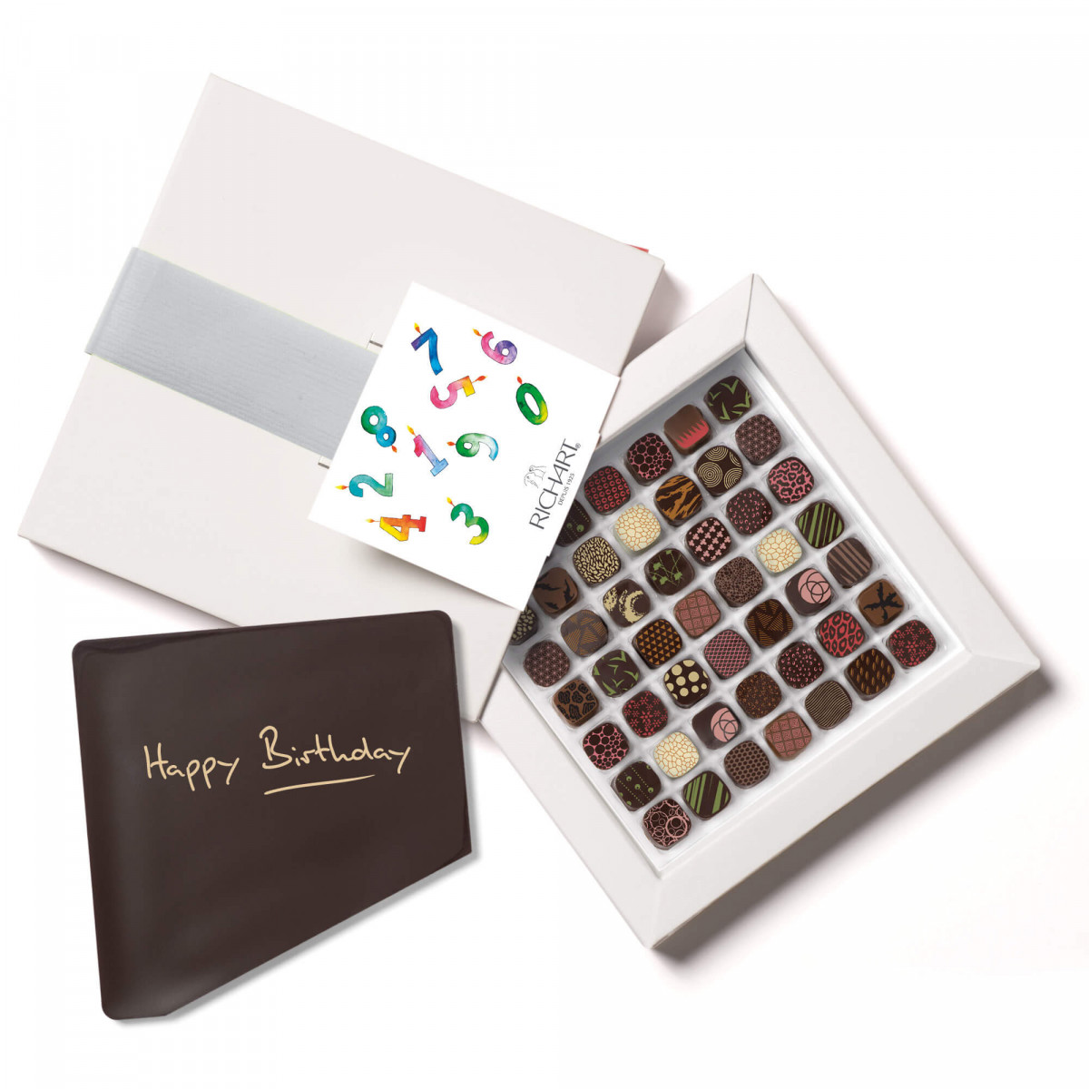 Petits RICHART Intense Happy Birthday Box of 49 filled chocolates