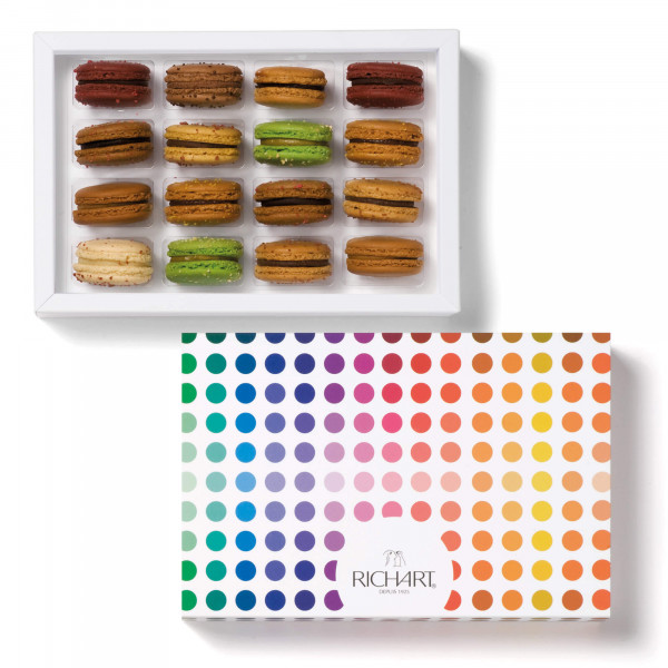 Fall picking Box of 16 French macarons