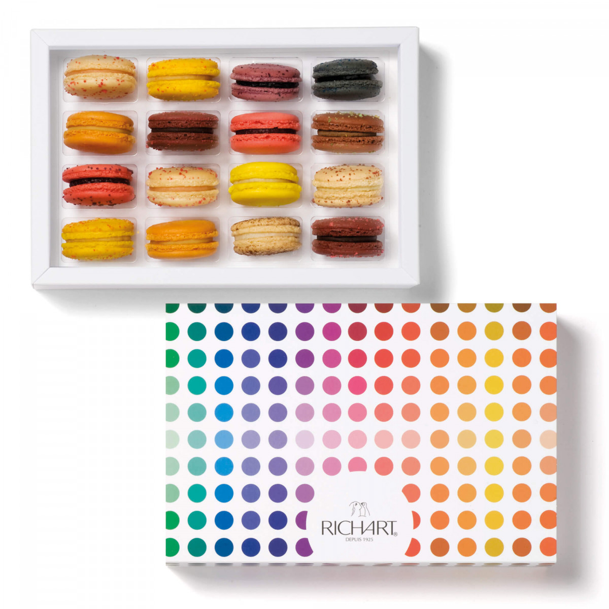 In the orchard Box of 16 French macarons