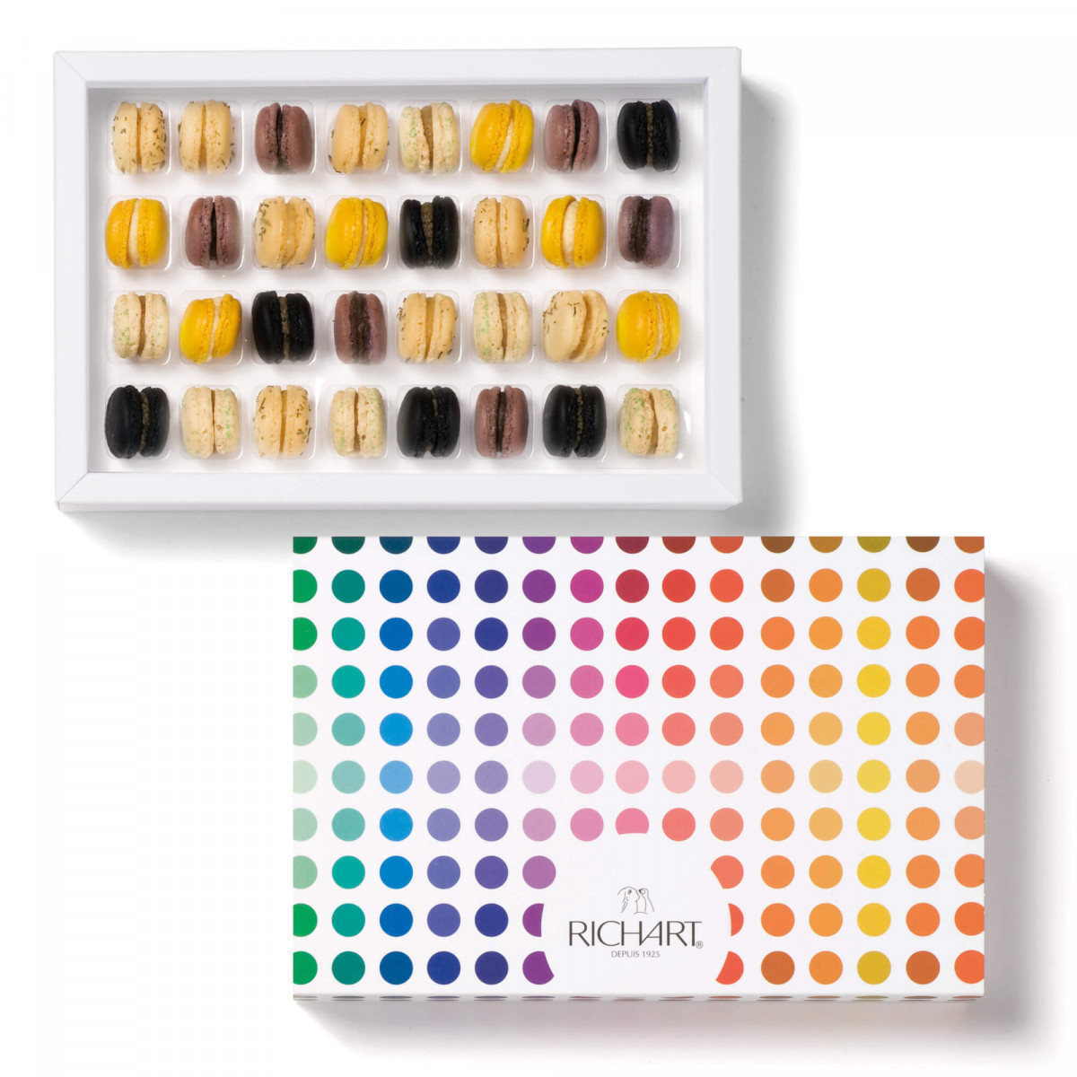 Mini-macarons appetizer Box of 32 pices
