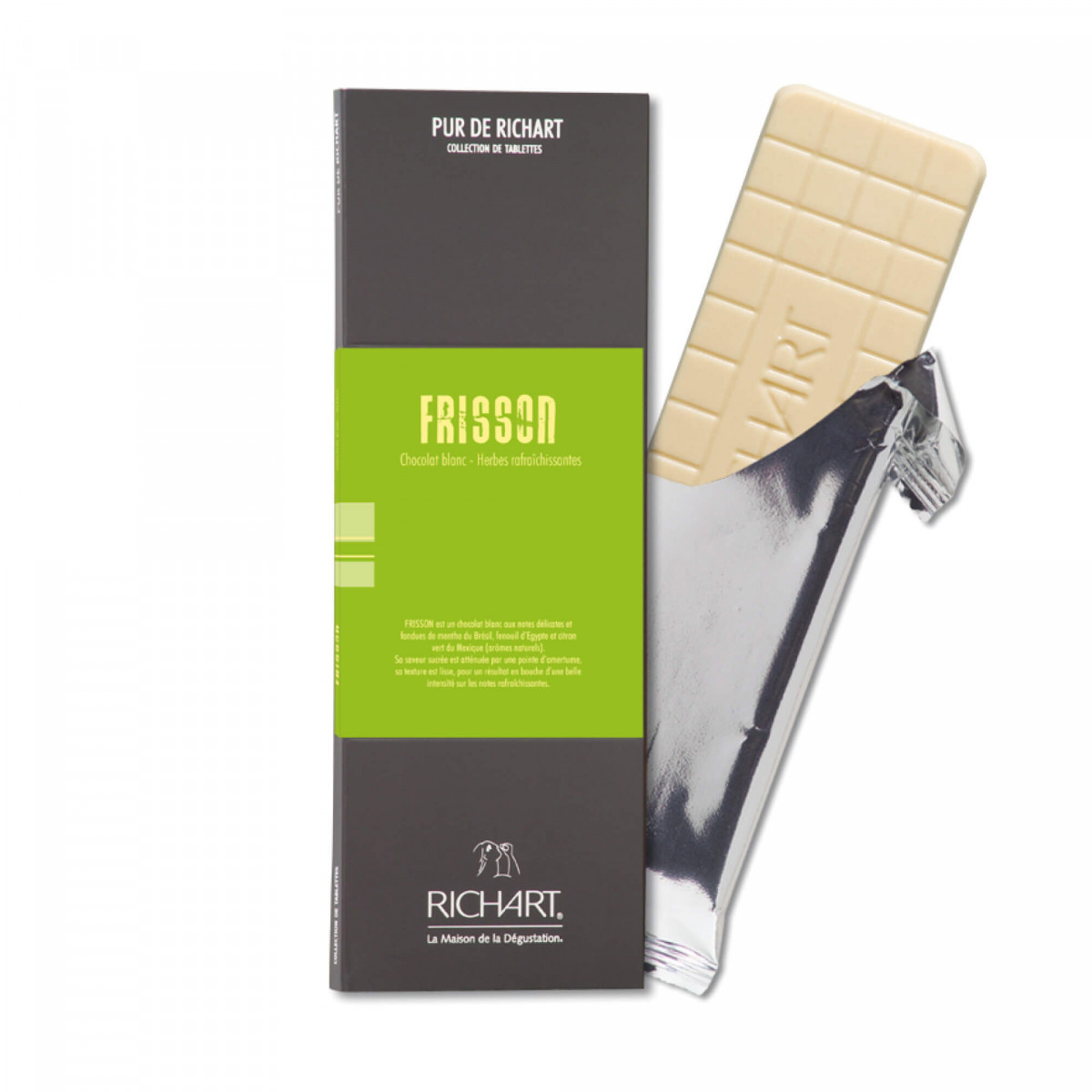Great thrill White chocolate bar with herbal notes