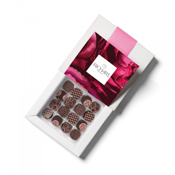 Petits RICHART Floral Box of 16 filled chocolates