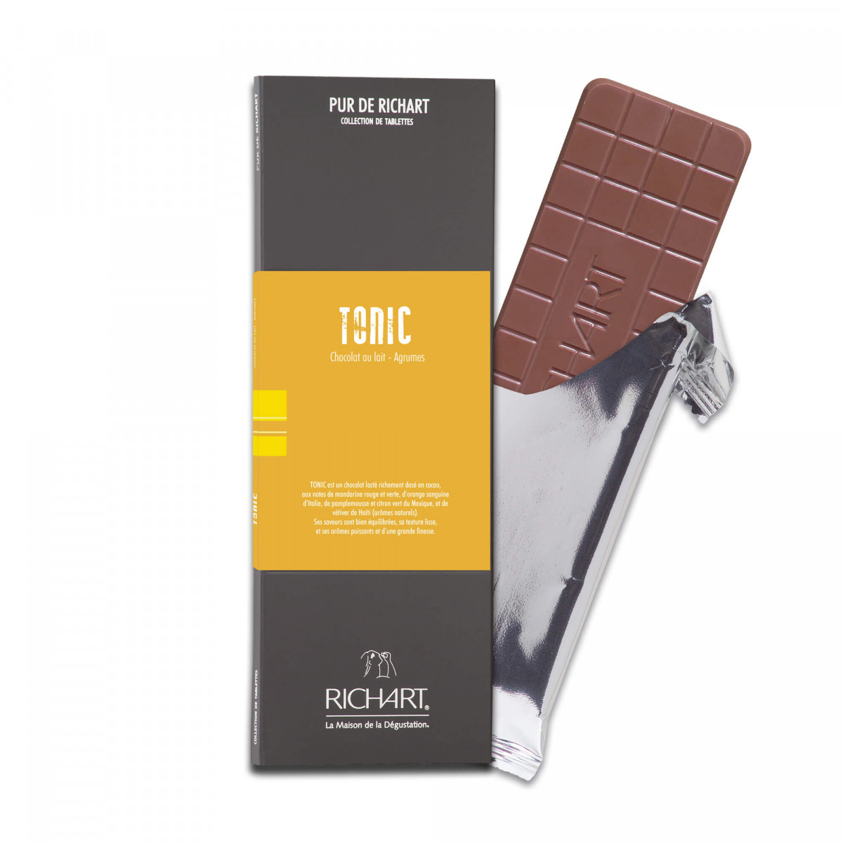 Tonic Milk chocolate bar with citrus